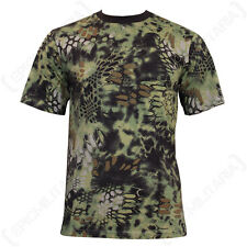 Mandra Woodland Camo T-Shirt - Camouflage Military Army Soldier Airsoft Green