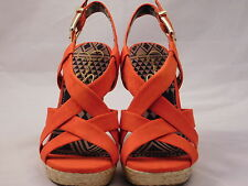 Jessica Simpson Catalina Womens Wedge Sandal high heel Shoe Tomato Red Orange