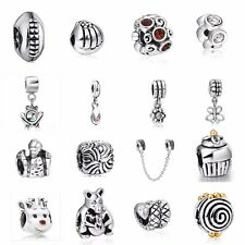 Hot 925 Silver Charm Pendant Bead Fit European Sterling Bracelet Safety Chain US