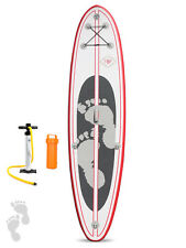 Two Bare Feet Model II 10'10 Inflatable Stand Up Paddle Board SUP (Rojo) Packs