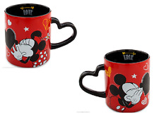 Disney Store Minnie or Mickey Mouse Valentines Day Mug Chaulk Board 2016 Red New