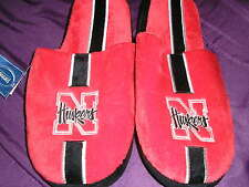 Nebraska Corn Huskers Mens Slip On Slippers Stripe