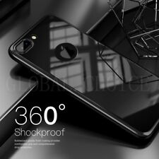 360° Full Body Hybrid Hard Case Cover + Tempered Glass For iPhone 6 6s Plus 7 7+
