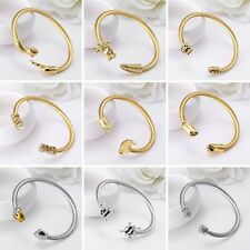 Fashion Silver/Gold Plated Dragon Leopard Head Wire Bangle Cuff Bracelet Jewelry
