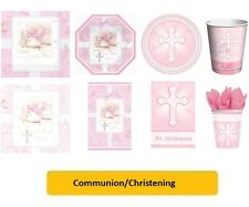 COMMUNION/CHRISTENING PINK/GIRL Party Range-Tableware & Decorations {AMSCAN}OLD