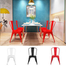 White Dining Table White/Black/Red Chairs Dinner Office Furniture Set Modern