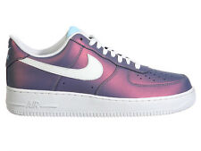 NEW MENS NIKE AIR FORCE 1 LV8 BASKETBALL SHOES TRAINERS STILL BLUE / SUMMIT WHIT