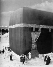 The Kaaba in Mecca with Pilgrims in 1910 11x14 Silver Halide Photo Print