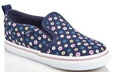 Girl's Toddler VANS ASHER AC Navy Blue Flowers Slip On Canvas Loafers Shoes NEW