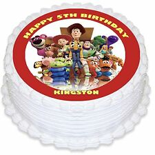 Toy Story Personalised Round Edible Icing Cake Topper - PRE-CUT