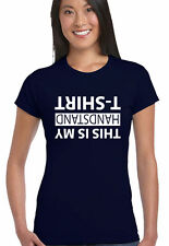 This Is My Handstand T-Shirt - Womens Funny T-Shirt Gymnastics Gym Acrobat
