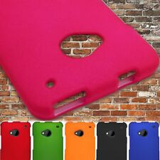 Hard Slim Rubberized Protective Back Shell Phone Cover Case for HTC One M7