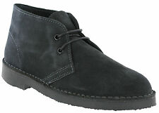 Roamers Grey Desert Ankle Boots 2 Eye Suede Leather Mens Boys Lace Up UK 3 - 12