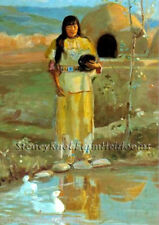 The Water Carrier ~ Native American ~ Cross Stitch Pattern