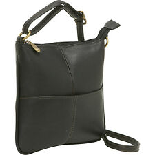 Le Donne Leather Front Pocket Cross Body 4 Colors Cross-Body Bag NEW