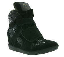 NEW REPLAY Willow Shoes Women's Wedge heel Sneaker Boots Black RP740010L 0003
