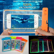 Luminous Glow Waterproof Underwater Pouch Case Bag Dry Cover For iPhone 7 6 6s 5