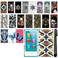 For Apple iPod Nano 7 7th Generation Butterfly Design HARD Back Case Cover + Pen