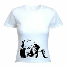 BANKSY COKE COPPER WOMENS T-SHIRT - Cocaine Police Line Up - Choice Of Colours