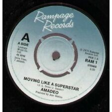 "AMADEO Moving Like A Superstar 7"" VINYL UK Rampage 1978 B/W 33Rd Floor (Ram1)"