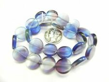 Faceted Puffy Coin Glass Beads Assorted Colors & Sizes