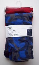 Gap Kids Boys Boxers Underwear 2 PACK CAMO Print NWT Red & Blue All Cotton