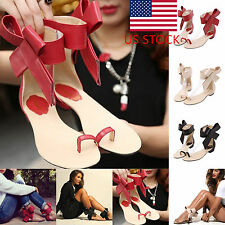 ZNU Fashion Women's Ladies Sexy Open Toe Buckles Flat Sandals Summer Party Shoes