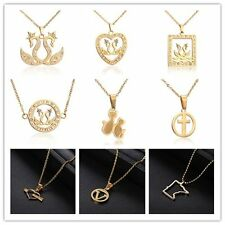 Womens Swan Heart Crystal Stainless Steel Pendant Long Necklace  Fashion Jewelry