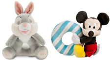 Disney Plush Toy Rattle Mickey Mouse Thumper New
