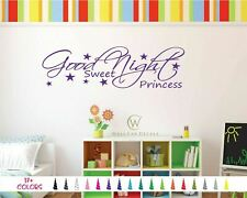Good Night Sweet Princess Home Bedroom Love Wall Quote Baby Vinyl Decal Sticker