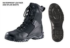 """Black 8"""" Forced Entry Tactical WATERPROOF BOOTS Military USMC Army SWAT Police"""