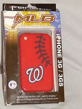 New Washington Nationals iPhone 3G/3GS Phone Case Cover Protector Red MLB