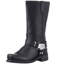 "Harley-Davidson Mens Iroquois Black 12"" Leather Motorcycle Riding Boots D97386"