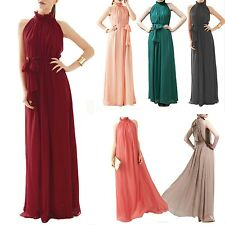 Party Cocktail Prom Vintage Womens Chiffon Elegant Evening Dress sz 14