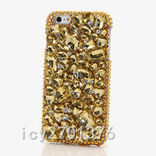 Luxury Jewelled Bling Crystal Full Gold stone Diamond Soft TPU Phone Cover Case
