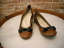 Isaac Mizrahi Dannie Brown Leather Bow Ballet Flats NEW