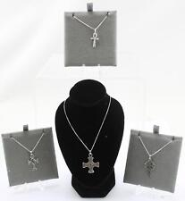 Sterling Silver Toucan Cross Pendant & Necklaces various Styles