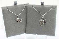 Sterling Silver Toucan Horse Pendant & Necklaces various Styles