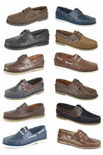 DEK Boat Moccasin Deck Leather Shoes Mens Casual Loafers Boots UK6-12