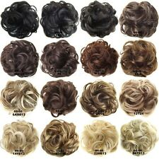 Synthetic Curly Wave Fluffy Hair Bun Updo Chignon Ponytail Hair Piece Extentions