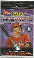 NEW 2017 MLB Topps Baseball Sticker Collection, Singles (#1 - #301), FREE SHIP