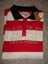 NEW MENS TAPOUT VINTAGE BAR STRIPED RED POLO SHIRT SIZE L XL XXL NWT TAP OUT