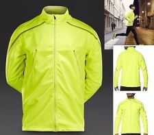 Mens asics Lite Show Winter Running Jogging Fitness Jacket Vis Yellow Size Large