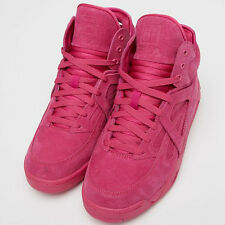 FILA 1VB90181 Mens The Cage Fuschsia Suede Athletic Leisure Shoes Casual Sneaker