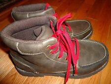 Cherokee Kids Boys Youth Lace Up Casual Shoes Boots Brown Free Shipping