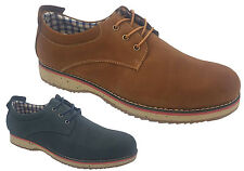 Mens Shoes Borelli Jacob Leather Brown or Navy Nubuck Lace Up Shoe Size 7-12 New