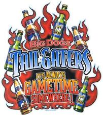 Big Dogs Tee Shirt Tailgaters Always Gametime Kahuna Beer White L XL 2X 3X 5X 6X
