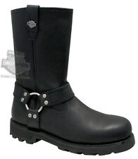 Harley-Davidson Mens Ransom Black Leather High Cut Motorcycle Riding Boots 91294