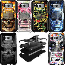 Heavy Duty Dual Layer Clip Stand Protective Case for Samsung Phone Models