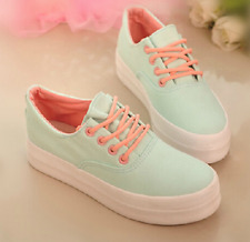 Women's Thick bottom fashion Comfortable Simple Canvas Small White Shoes New